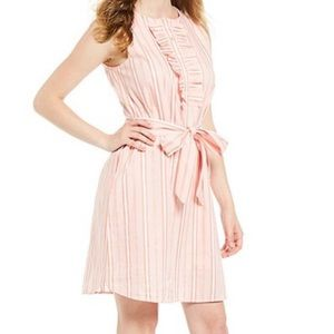 Draper James Ruffle Placket Stripe Dress